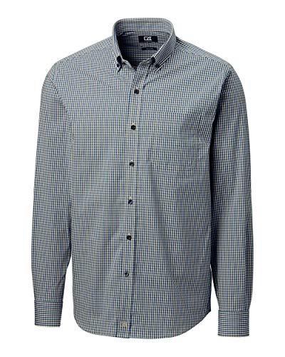 Cutter & Buck Herren Big & Tall Long Sleeve Anchor Gingham Up Shirt Button Down Hemd, Flax, 4XT -