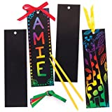 Baker Ross Scratch Art Bookmarks (Pack Of 12) For Kids Party Bag Fillers