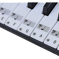 Pegatinas de piano para llaves, extraíbles con revestimiento de capa para teclados de 49/61/76/88