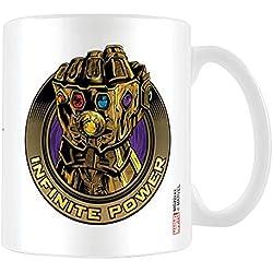Los Vengadores: infinity Guerra infinito poder taza de café, cerámica, multicolor, 7,9x 11x 9,3cm