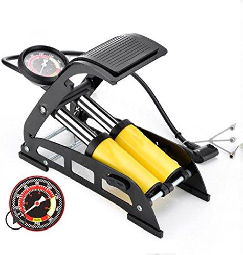 RUIX Hochdruck Standpumpe (Fahrradpumpe, Luftpumpe Für Fahrrad Und Für Luftmatratze) Hochdruck Standpumpe ,Yellow