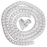 Sourcingmap® 10mm Flexibel Spiral Tube Kabel Draht Wickeln Computer Manage weiß 16ft mit Clip DE de