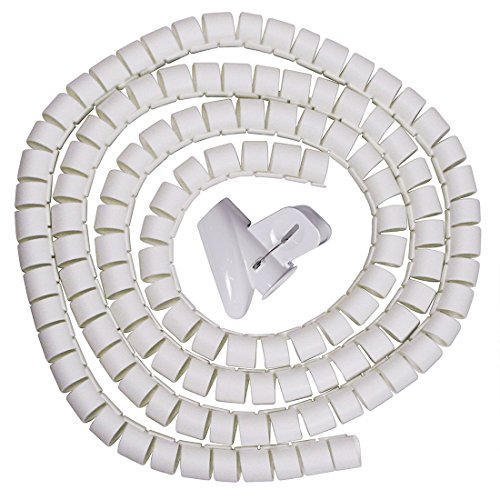 Sourcingmap® 15mm Flexibles Spiralrohrkabel Draht Wickeln Computer Manage Schnur Weiß 16ft DE de