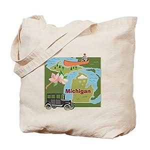 CafePress–Michigan mapa–Gamuza de bolsa de lona bolsa, bolsa de la compra
