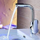 Waschtisch-Waschtischarmatur Alle Kupfer-Ausgussbecken Becken Einloch-Warm- und Kaltwasserarmatur Waschbecken 360 Rotation