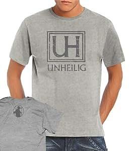 Unheilig - Vintage Logo T-Shirt Heathergrey, M