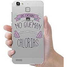 "Funda carcasa TPU Transparente para Huawei P8 Lite Smart ""las excusas no queman calorías"""