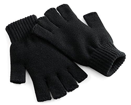Beechfield Fingerlose Handschuhe - Herren, Schwarz, ()