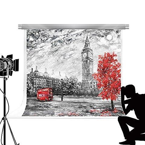 Kate fond de photographie Tour Eiffel Style de peinture à l'huile Photocall de fond pour des photos de mariage Studio 2.2 x 1.5 m