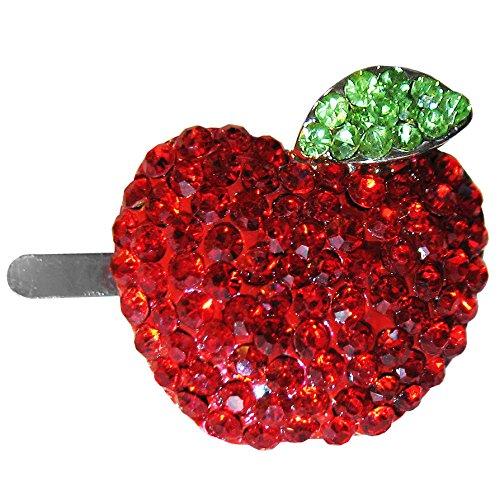 OMyGod Cristal Rouge Apple magnétique Pince à cheveux – 3 cm x 3 cm x 1 cm