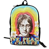 NA Unisexe John Lennon Sac à Dos pour Travail Voyages Ou École Accueillir Un Ordinateur Portable De 15 Pouces Computer Bag