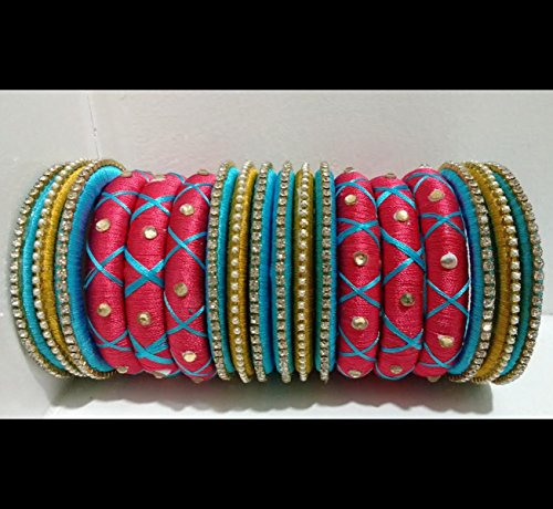 pink-and-blue-silk-thread-bangles-set