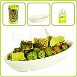 Green Potpourri Gift Set - Green Pot-Pourri, Bowl & Scented Oil