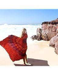 WDBS Toile de plage manteau solaire à la jupe châle écharpe