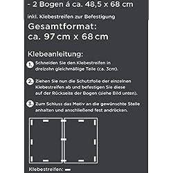"""""""Graue Steine"""" Küchen-Deko Küchennische : Schmutz-Resistent abewaschbar mit Erweiterung Foto-Tapete Wand-Deko Wand-Bild Wand-Tattoo Wand-Sticker"""