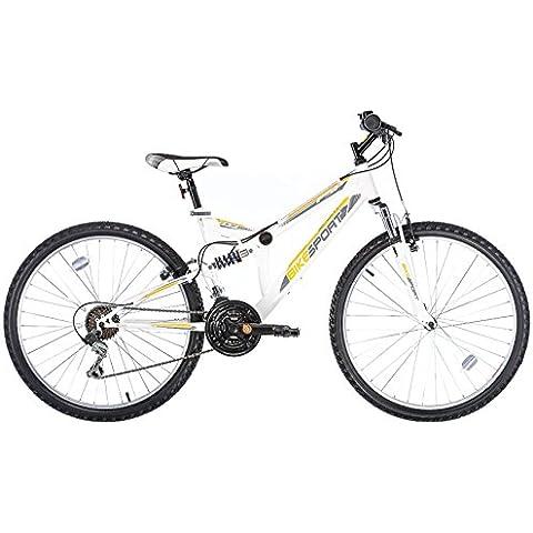 Bikesport ELEMENT Bicicleta doble suspensión unisex, Ruedas 26