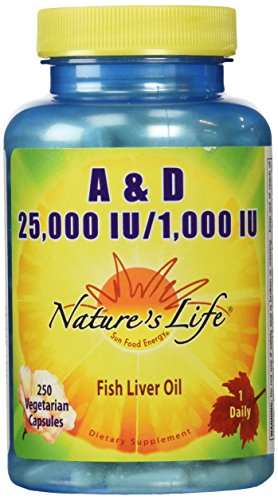 Nature's Life A and D, 25,000 IU/1000 IU Softgels, 250 Count (Iu Softgels 25000 250)