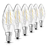 Osram LED Retrofit Filament Classic BW E14 Bli, 2.8 W, Chiara, 25 W, 6 unità