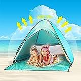 Tente de Plage Adulte Anti UV,Oummit Tente Pop Up Automatique Pliable Portable Abris de Plage Avec Protection Soleil UV 50+ pour Activités d'extérieur Camping Randonnée Voyage Plage. (Vert)