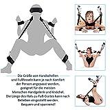 Cksohot® SM Bondage Set BDSM Fesselset SM Sexspielzeug Extrem Betten Fesseln mit Handschellen mit Augenmaske für Paare Gays, für Einsteiger und Erfahr - 3