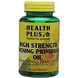 Health Plus High Strength Evening Primrose Oil 1000mg Omega-6 Supplement - 90 Capsules