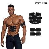 IMATE EMS Cinturones de tono abdominal Tóner de músculo Cinturón de entrenamiento eléctrico abdominal, IMATE ABS Fitness Trainer Aparato de gimnasia Unisex de apoyo para hombres y mujeres