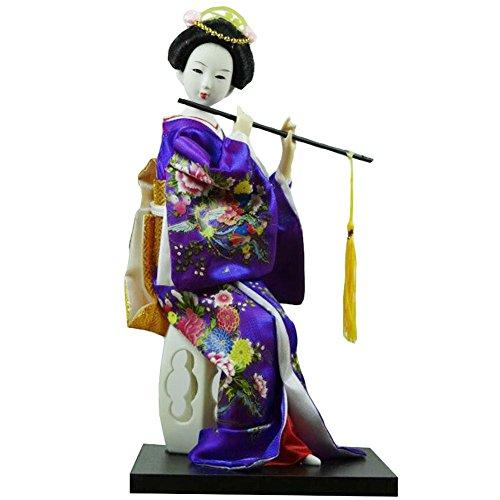 Black Temptation Traditionelle japanische schöne Kimono-Geisha /Maiko Puppe /Geschenke / Deko-A16