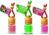 3Elegante Aroma frascos para coche y hogar. superventas Mix: 1x Apple–Manzana, 1x Bubble Gum–Chicle, 1x Watermelon–Sandía