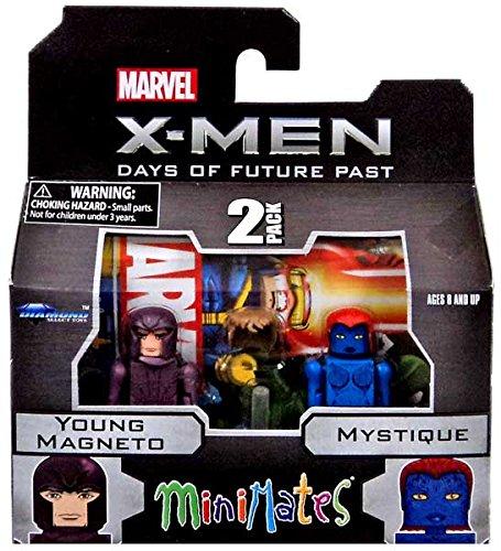 Marvel Minimates X-Men Days of Future Past Series 58 Mini Figure Young Magneto & Mystique by Diamond Select