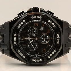 Aqua Master Royal Oak Mens Diamond Watch 1.50ctw W3255