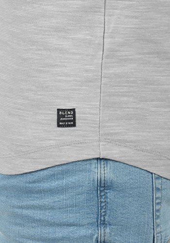 Blend laslo Herren Sweatshirt Longsleeve Aus 100% Baumwolle in Melange-Optik Drizzle Grey (75110)