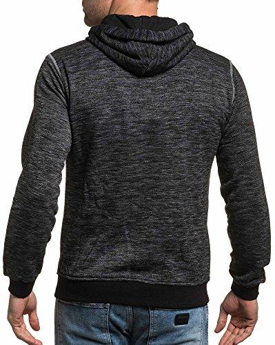 BLZ jeans - Vest schwarz Kapuzenjacke Hoodie Heather Schwarz