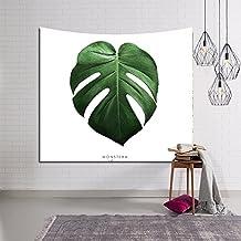 SUN-Decoración del hogar de la pared de la tapicería del indio de Manlada de la decoración de las hojas del verde , 2 , 203x150