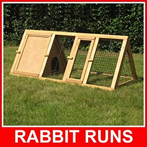 4ft APEX RUN WITH ENCLOSURE RABBIT / GUINEA RUNS RUN HUTCH HUTCHES by BUNNY BUSINESS