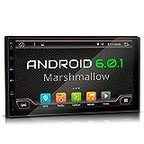 XOMAX XM-2VA701 Android 6.0.1 Radio de Coche con GPS I 7 '/ 18 cm pantalla táctil HD I Bluetooth I USB, SD I Conexiones por subwoofer, cámara de vista trasera y control remoto del volante I 2 DIN