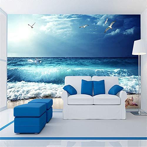 XZDXR Wandbild, Tapete 3D Geprägte Tapete Costa Rica Schönen Meerblick Wohnzimmer Schlafzimmer Wand Hintergrund, 400X288Cm