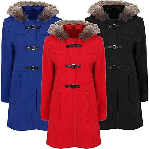 paramount-duffle-coat-a-capuche-bordee-de-fourrure-avec-fermoir-en-polyurethane-grandes-tailles-bleu
