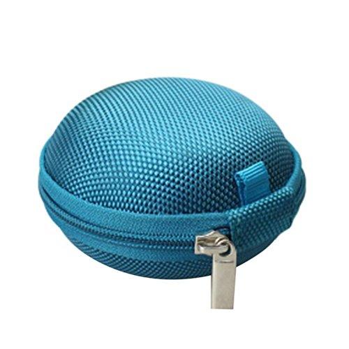 Transer® Round Case for Fidget Hand Spinner- Gift forocus ADHD Autism Finger Toy Bag Box Carry Packet (Dark Blue)