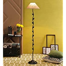 Jute & Stiffner Leaf Floor Lamp /Standing Lamp By New Era For Living Room /Drawing Room/Office/Bedroom/Decoration /Corner/Gift/Lobby