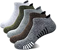 Joodax Men's Socks Athletic Ankle Socks Low Cut Cotton Cushioned Running Socks for Sports 5 Pairs