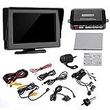 lovelifeast Reverse Kit 4.3Monitor + Cámara + Negro–Sensores de aparcamiento para coche con LCD Pantalla ancha Professional