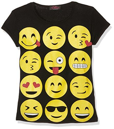 Jolly Rascals Ssemojit, T-Shirt Bambina, Nero, 9-10 Anni