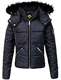 CANDY FLOSS NEW KIDS PUFFER FAUX FUR GIRLS PADDED WARM THICK BOYS BUBBLE HOODED CHILDRENS ZIP JACKET COAT