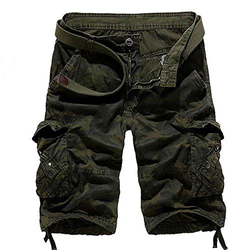 unt Herren Shorts Sommer Herren Shorts Sommer Herren Shorts Sommer Jeans Beiläufige Taschen-Strand-Arbeits-beiläufige Kurze Hosen der kurzen Hosen Hosen GY / 34 ()