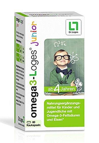 Omega 3-Loges Junior Kaukapseln Nahrungsergänzung, 60 St