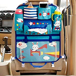 wasserabweisend CARTO Rücksitztasche bunt bedruckt mit vielen Fächern ideal a