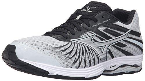 Mizuno Men's Wave Sayonara 4 Running Shoe, Quiet Shade/Black/Silver, 8. 5 D US