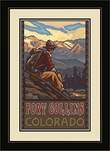 Northwest Art Mall pal-1081mfgdm MHM Fort Collins Colorado Mountain Hiker Man Gerahmtes Wandbild Art von Künstler Paul A. lanquist, 13von 40,6cm
