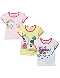 Donuts by Unlimited Baby Girls' T-Shirt (Pack of 3)