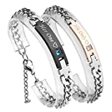 Best Couples Apparel Husband Gifts Anniversaries - PiercingJ His Queen Her King Couple Bracelet His Review